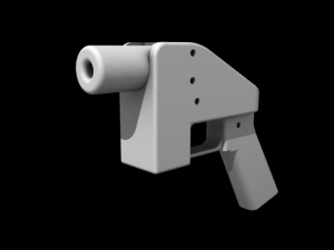 A 3D-printed gun. Credit goes to Kamenev.
