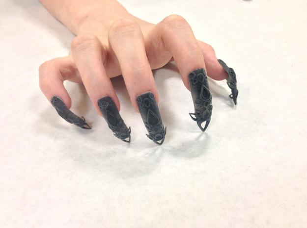 3D printed fingernails by TheLaserGirls. Offered for sale on Shapeways.